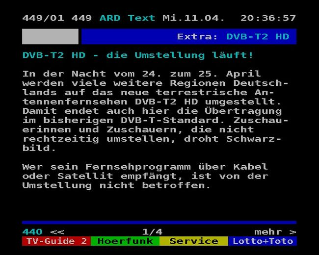 Umstellung auf DVB-T2