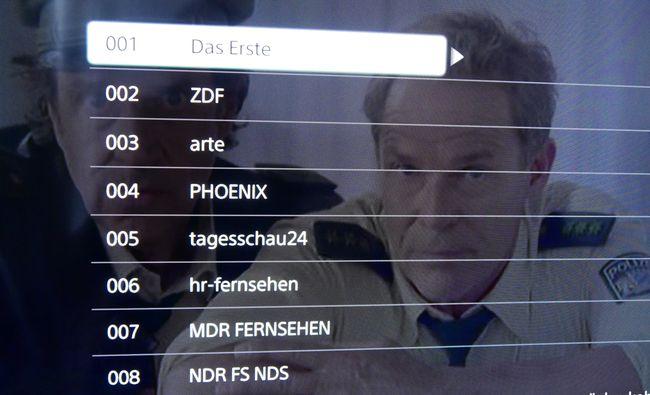 Programmauswahl DVB-T